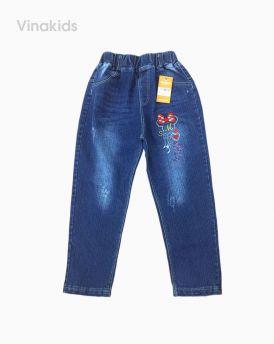 Quần jeans dài bé gái thêu mickey (4-6 tuổi)