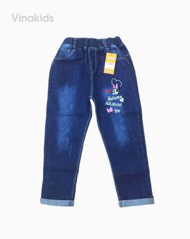 Quần jeans dài bé gái thêu mickey Autumn (4-6 tuổi)