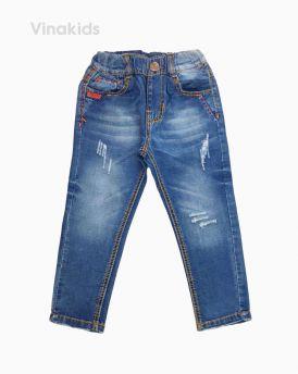 Quần jeans dài bé trai đắp túi màu nhạt (7- 11 Tuổi)