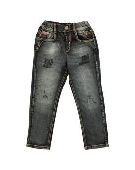 Quần jeans dài bé trai rách màu đen 32081 (12-16 Tuổi)