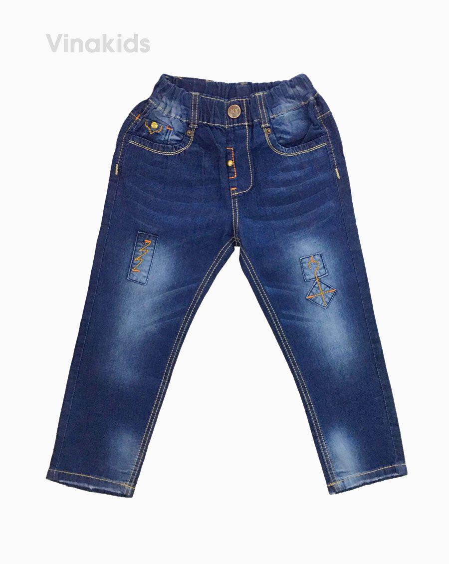 Quần jeans dài bé trai cúc khóa 22126 (7-11 Tuổi)