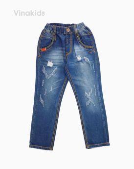Quần jeans dài bé trai rách màu xanh nhạt 32081 (12-16 Tuổi)
