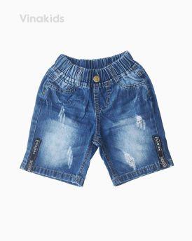 Quần jeans lửng bé trai Fashion màu đậm (7-10 tuổi)