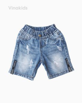 Quần jeans lửng bé trai Fashion màu xanh nhạt (1-7 tuổi)