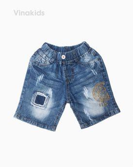 Quần jeans lửng bé trai Versace màu đậm (7-10 tuổi)
