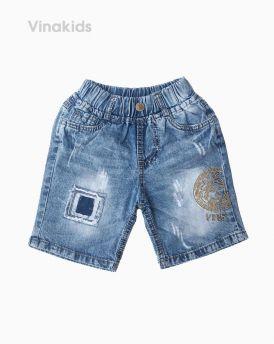 Quần jeans lửng bé trai Versace màu nhạt (7-10 tuổi)