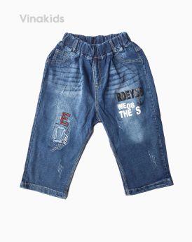 Quần jeans lửng bé trai chữ E ( 6-11 Tuổi)