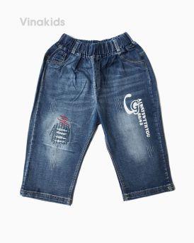 Quần jeans lửng bé trai chữ G( 6-11 Tuổi)