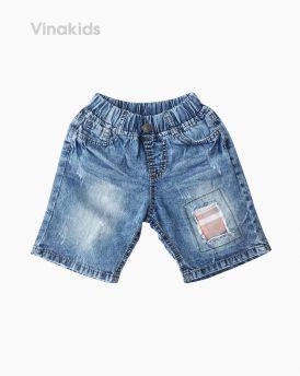 Quần jeans lửng bé trai đắp vải màu vàng (7-10 tuổi)