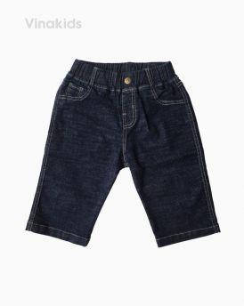 Quần jeans lửng bé trai màu xám đậm (6-11 tuổi)