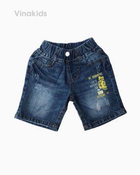 Quần lửng jeans bé trai mặt hổ (8-11 tuổi)
