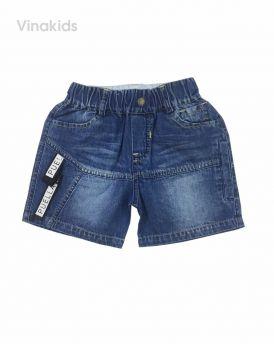 Quần sooc jeans bé trai đính dây (3-8 tuổi)
