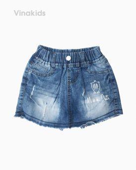 Quần váy jeans bé Dutti màu đậm (7-10 tuổi)