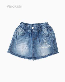 Quần váy jeans bé gái Dutti màu nhạt (1-7 tuổi)