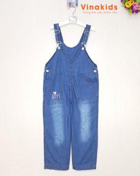 Quần yếm jeans bé gái cân nặng 35kg -55kg