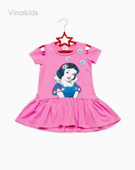 Váy bé gái công chúa bạch tuyết hồng sen