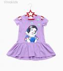 Váy bé gái công chúa bạch tuyết màu tím