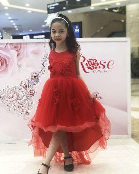 Váy bé gái đuôi cá ren cao cấp Vinakids màu đỏ (3-10 Tuổi)