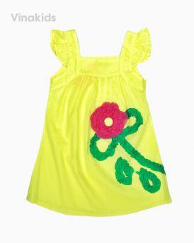 Váy bé gái kết hoa màu vàng (1-7 tuổi)