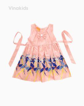 Váy bé gái sát nách hình chong chóng màu cam (1-5 Tuổi)