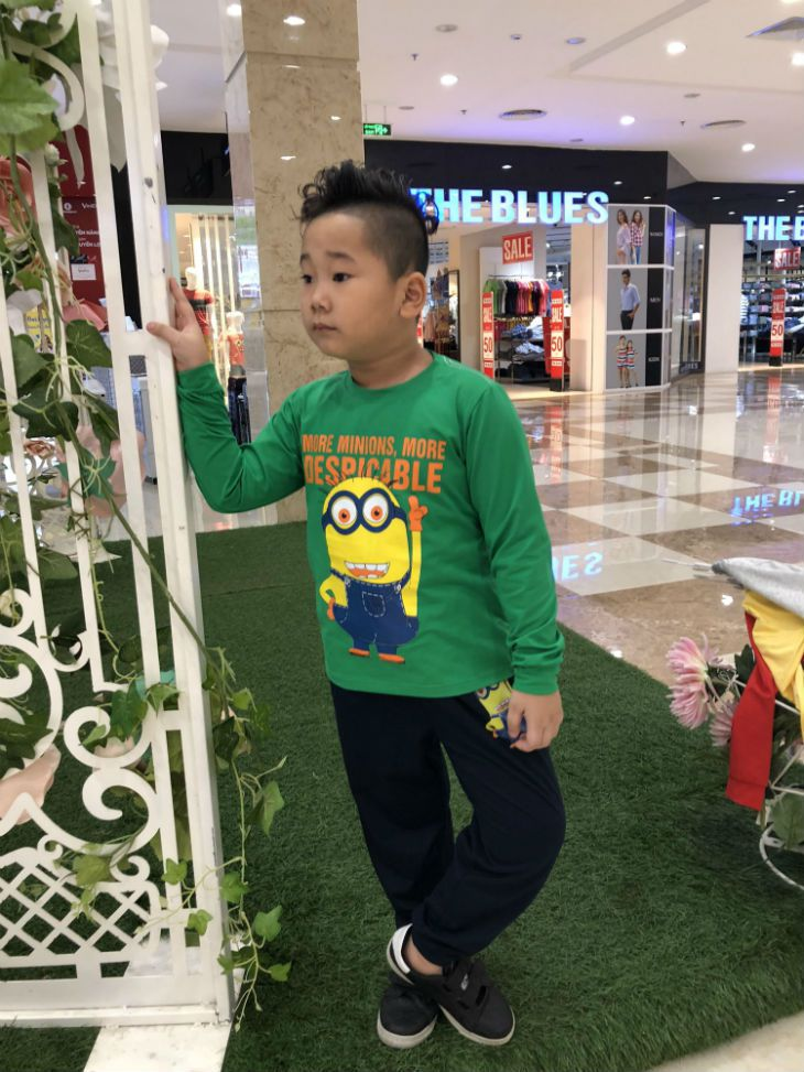 Đồ bộ bé trai Minions màu xanh lá  1-7 tuổi
