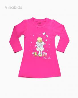 váy bé gái da cá size đại màu hồng sen