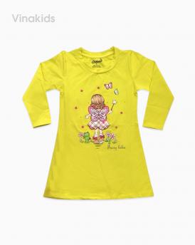 váy bé gái da cá size đại màu vàng