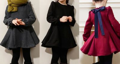 Mách mẹ cách chọn váy mùa đông cho bé vừa đẹp vừa ấm