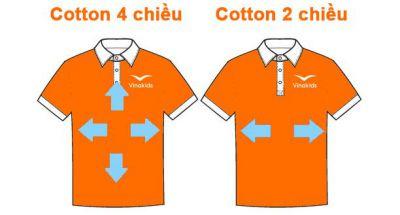 So sánh vải cotton 4 chiều với cotton 2 chiều