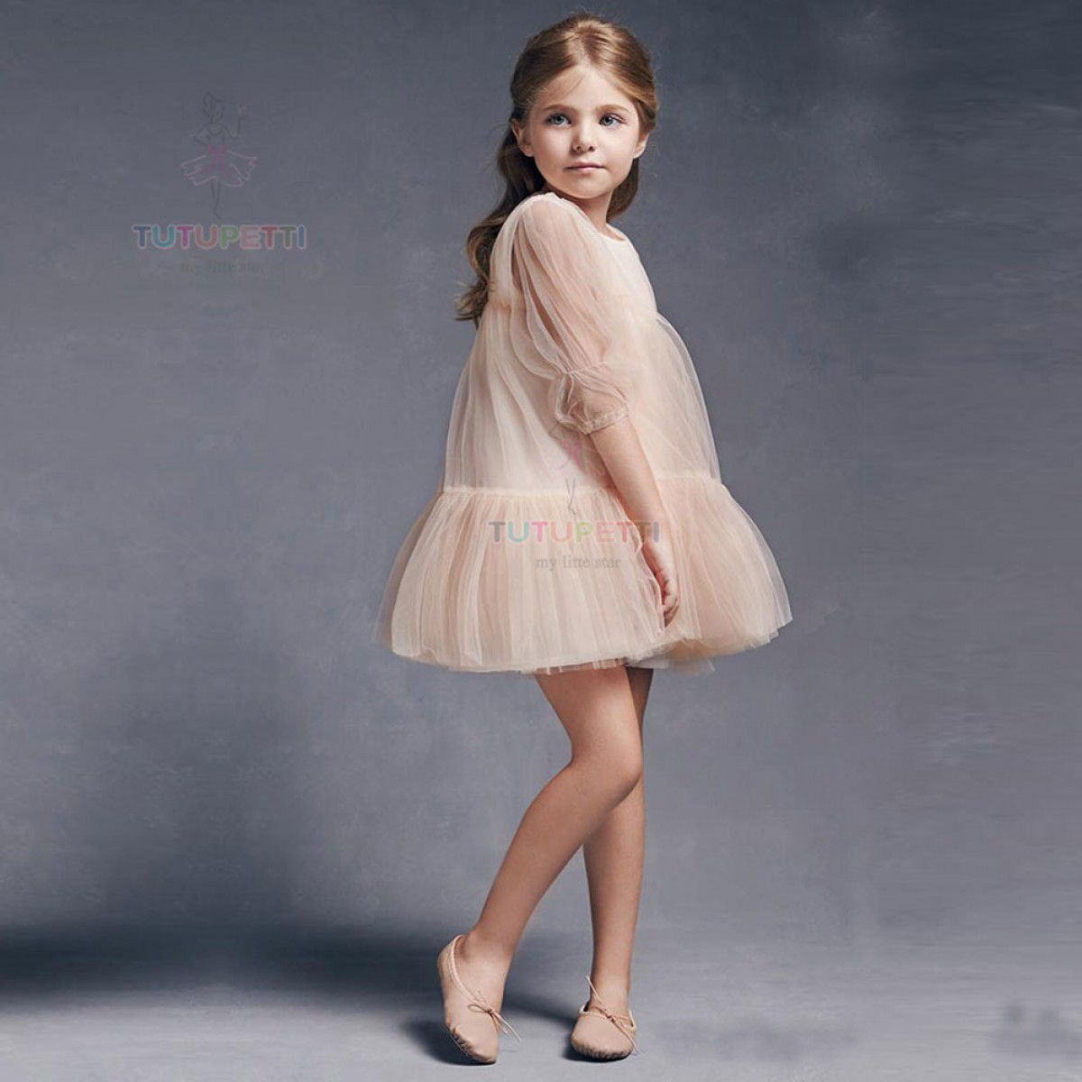 áo đầm bé gái 10 tuổi dự tiệc