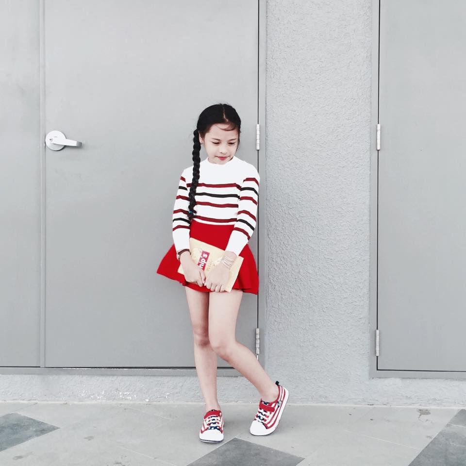 áo đầm bé gái 10 tuổi đi học