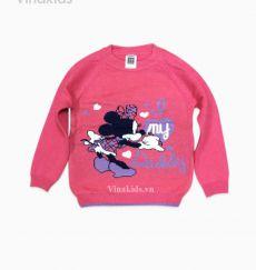 Áo len bé gái mimi màu hồng sen