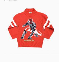 Áo len bé trai người nhện màu đỏ
